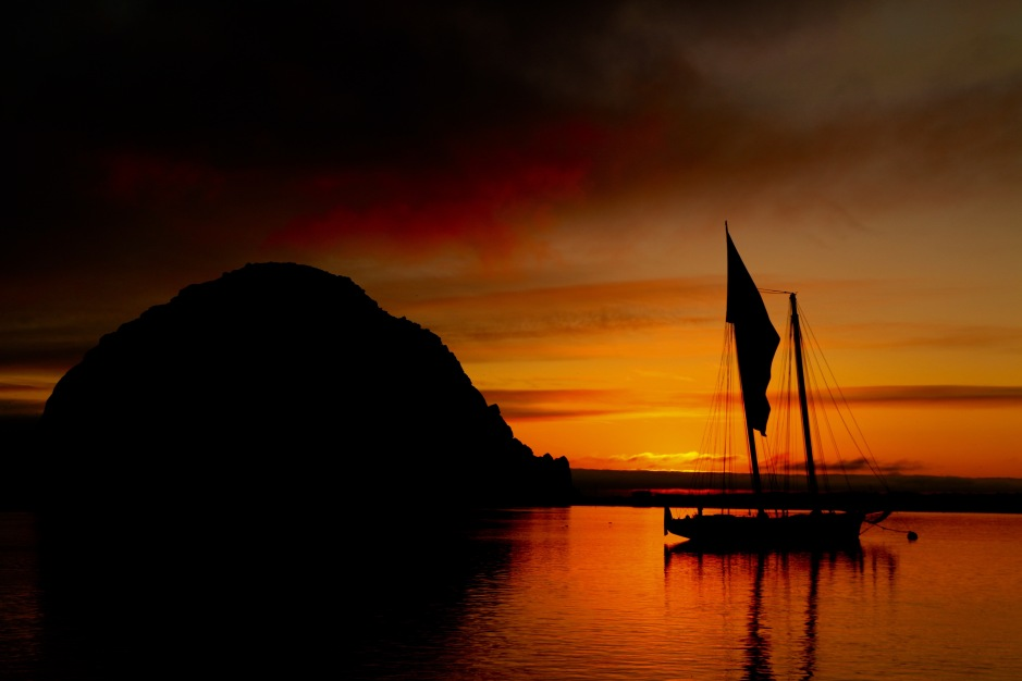 The sunsets are legendary in Morro Bay